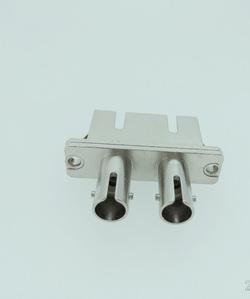 ST-SC双芯转接光纤适配器双联法兰盘耦合器小于0.2dB大于1000次