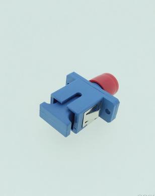 FC-SC单芯转接光纤适配器UPC法兰耦合器小于0.2dB大于1000次