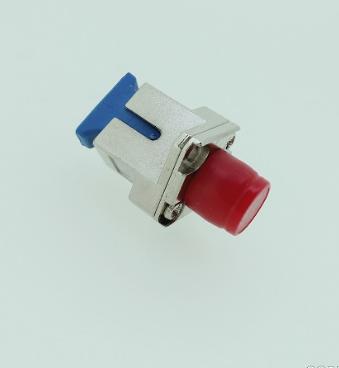FC-SC单芯转接光纤适配器UPC菱形法兰耦合器小于0.2dB大于1000次