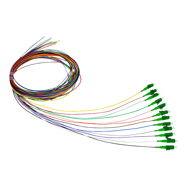 LC APC 0.9 SM 12色尾纤